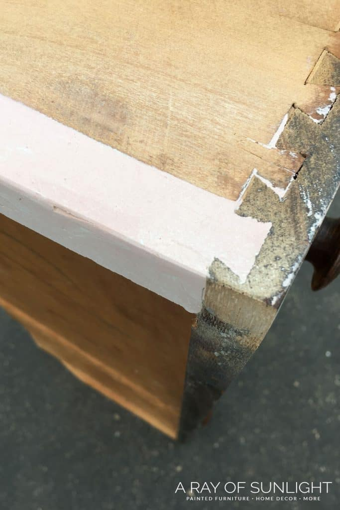 Old Dresser Drawer Fixed with Bondo