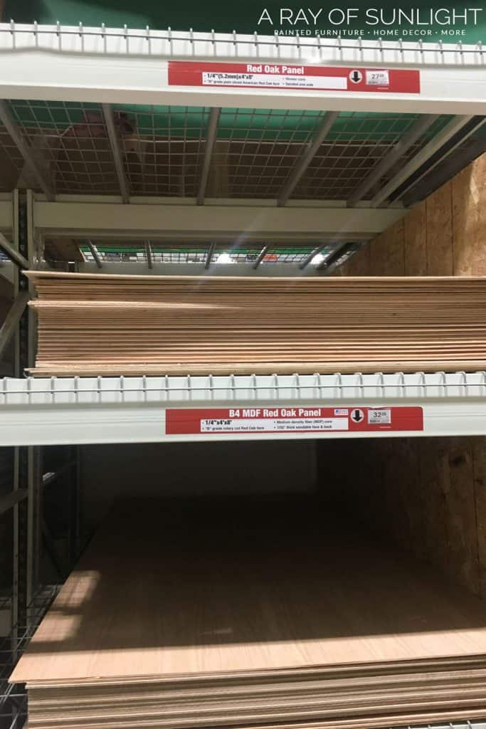 """1/4"""" plywood to replace drawer bottom"""