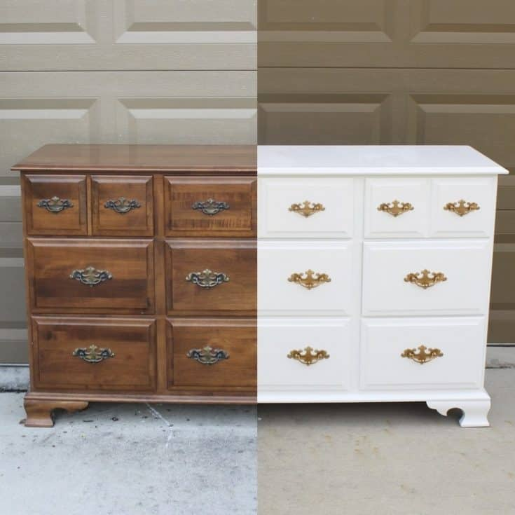 Dresser/Changing Table Makeover - Frills and Drills