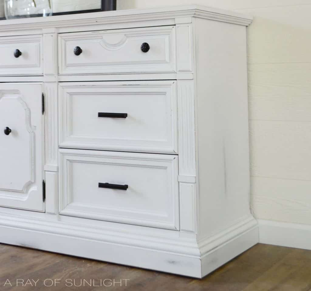 White Farmhouse Dresser Makeover