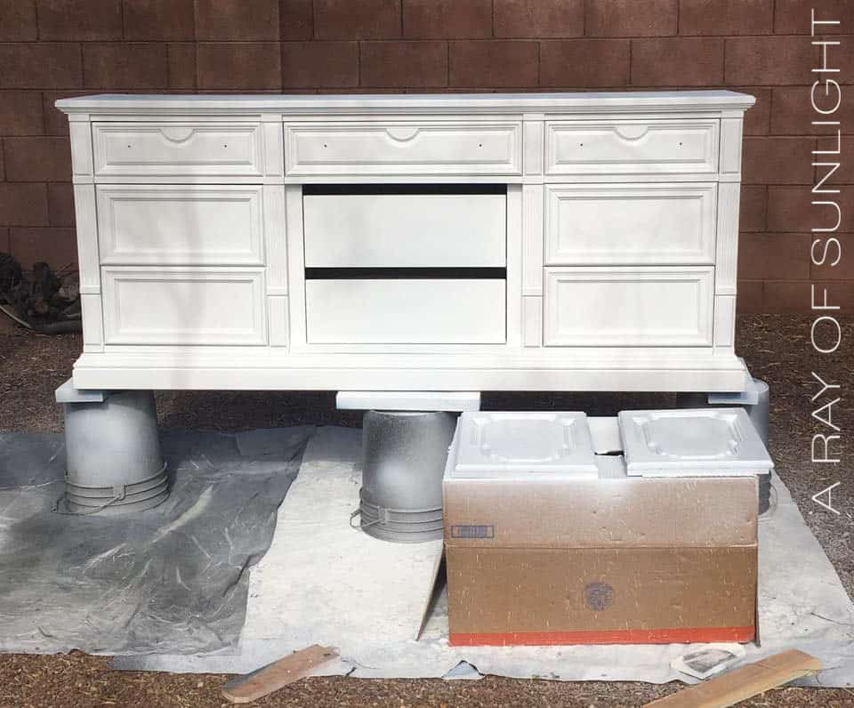 Painted White Dresser - Using a Paint Sprayer