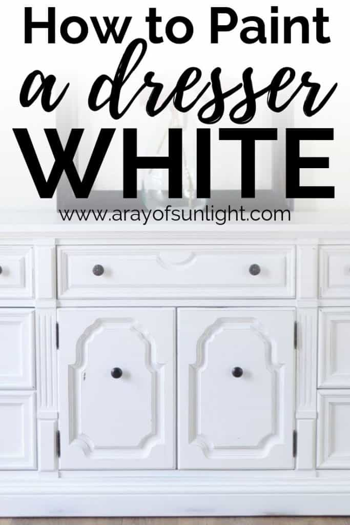 How to Paint a Dresser White