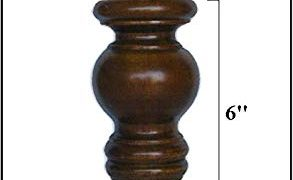 "6"" Wooden Turned Tapered Furniture Leg (Set of 4)"