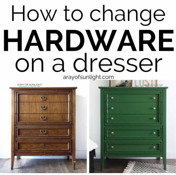 How To Change Hardware On A Dresser, Oak Furniture Drawer Handles