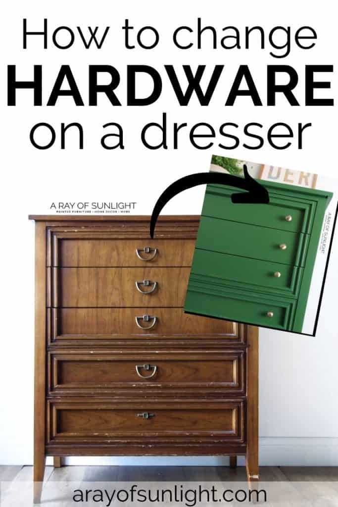 How to Change Hardware on a Dresser