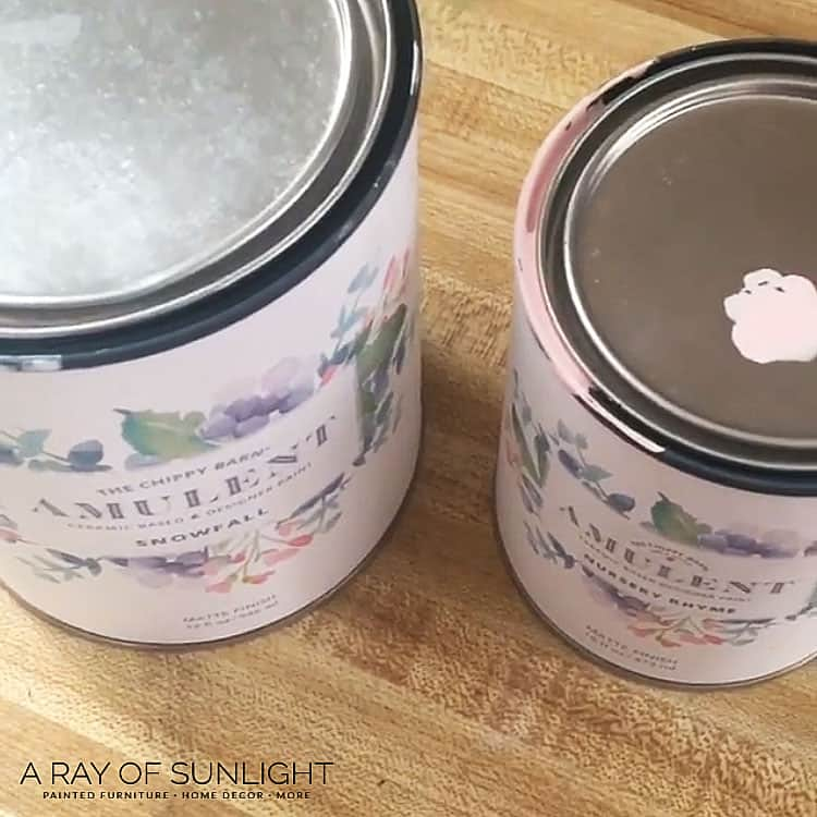 pink paint and white paint by Amulent Paint
