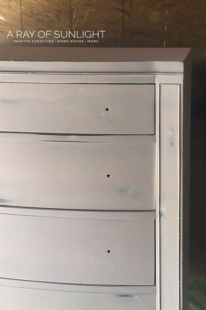 Painting pink dresser