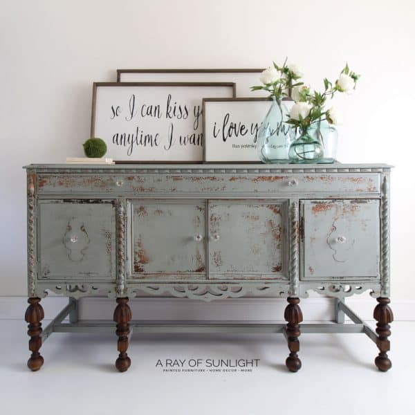 chippy painted victorian buffet