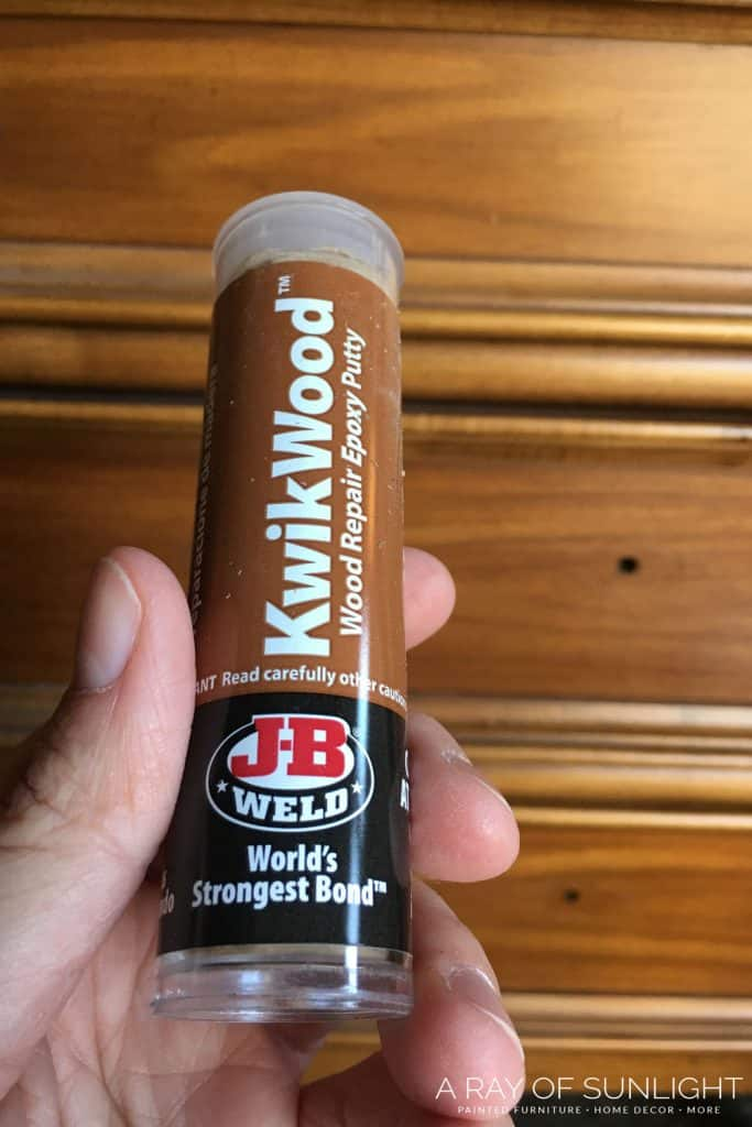 How to use kwikwood as wood filler