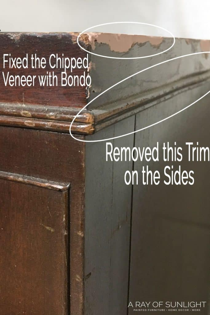 how to fix chipped paint on wood furniture