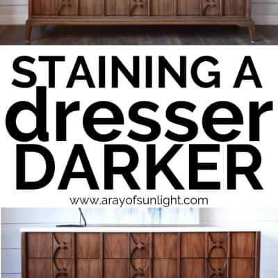 staining a dresser darker