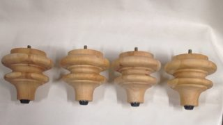 Package of 4 Unfinished Wooden Furniture Legs MR21