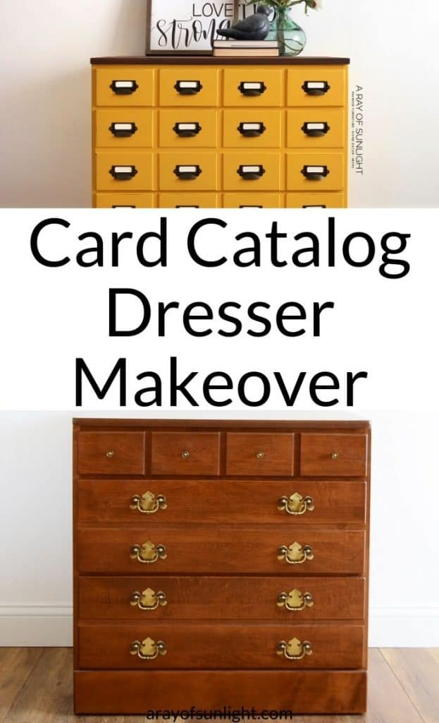 How to make a card catalog from a vintage dresser