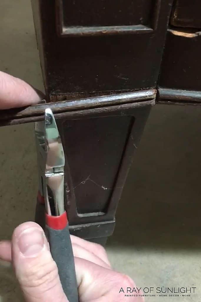 replacing wood trim on furniture