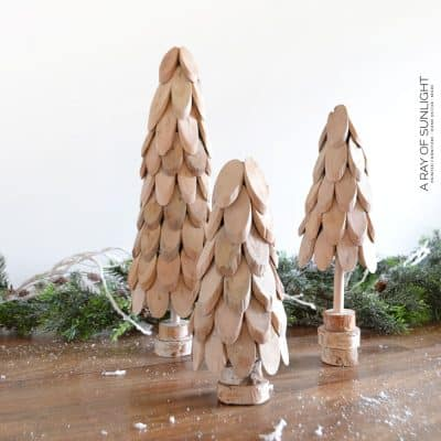 DIY Small Wooden Christmas Trees