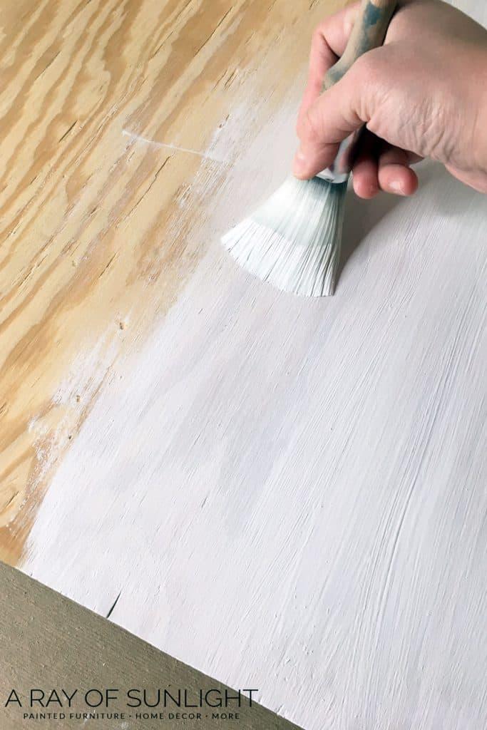 Painting Wood Sign - DIY Christmas Tree Sign