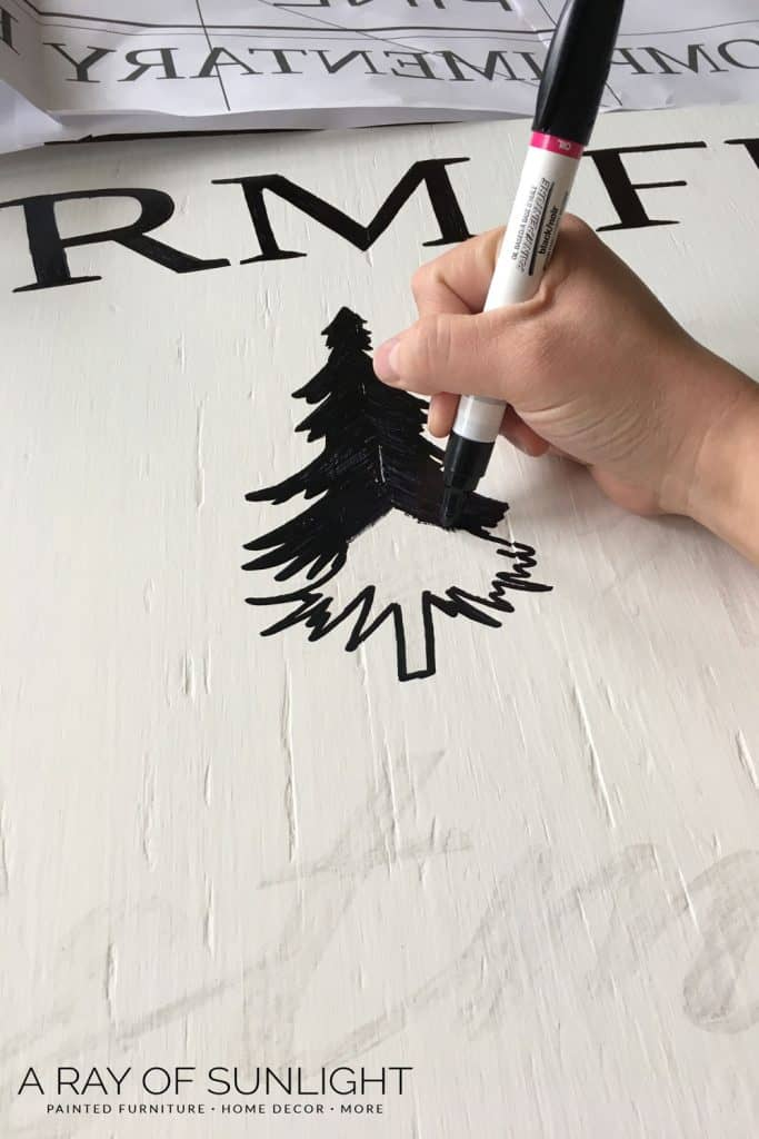 How to Paint Farmhouse Signs - The easy way with Sharpie