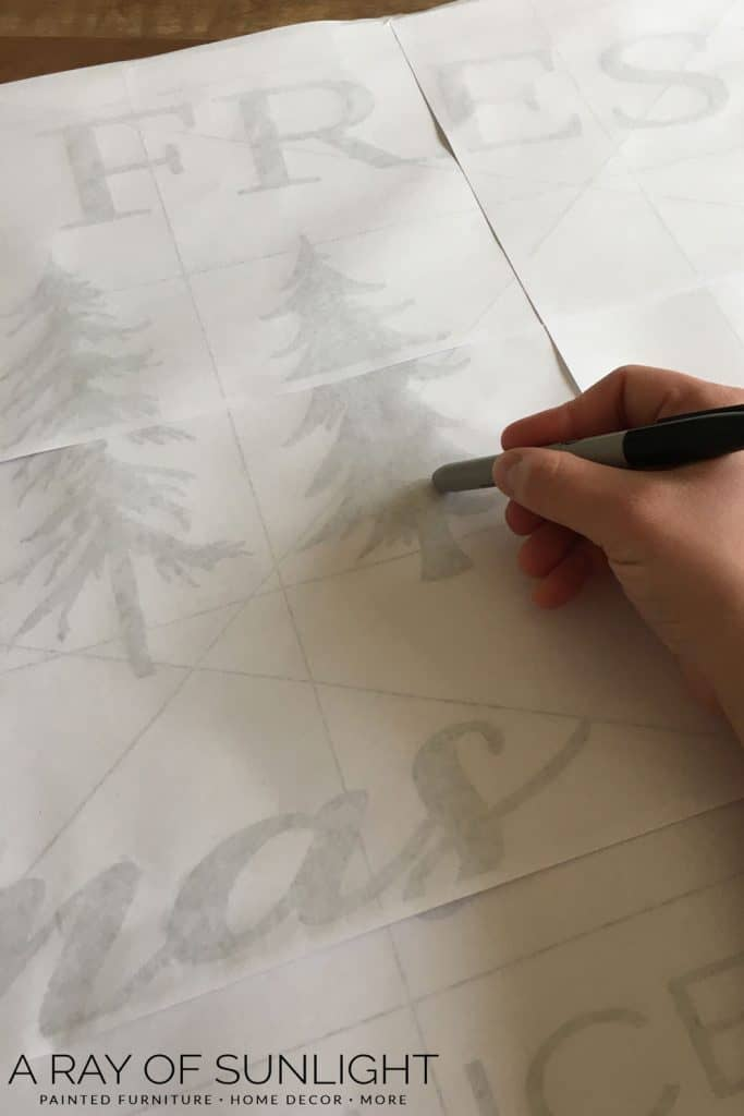 Free Christmas stencils for wood signs