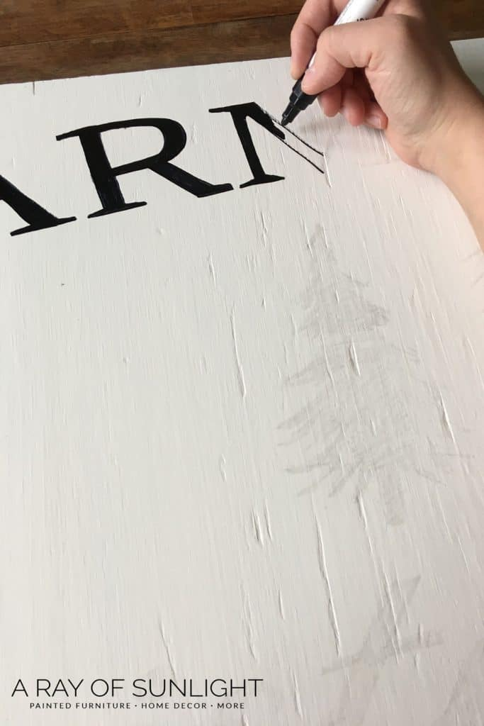 DIY Painting wood sign