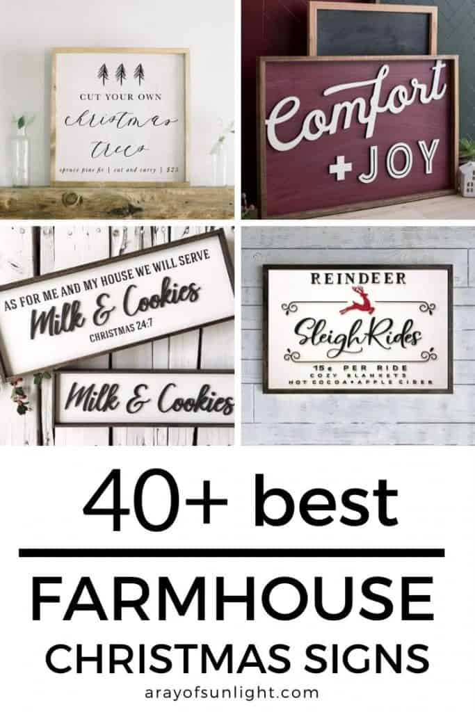 Best farmhouse Christmas signs from Etsy