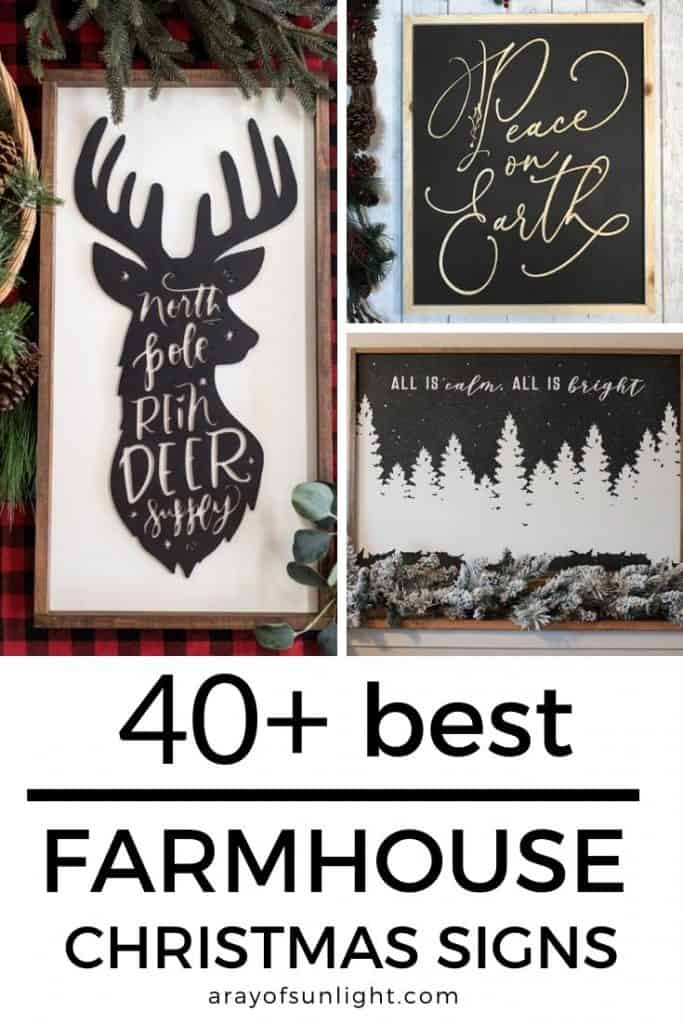 40+ of the best wood Christmas Signs from Etsy