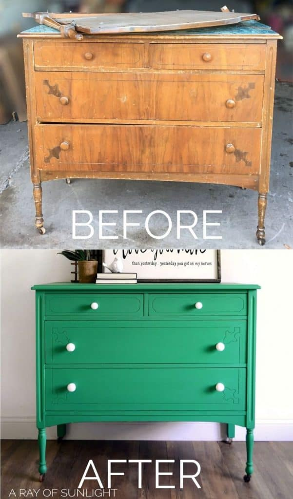 How to Paint a Stained Dresser