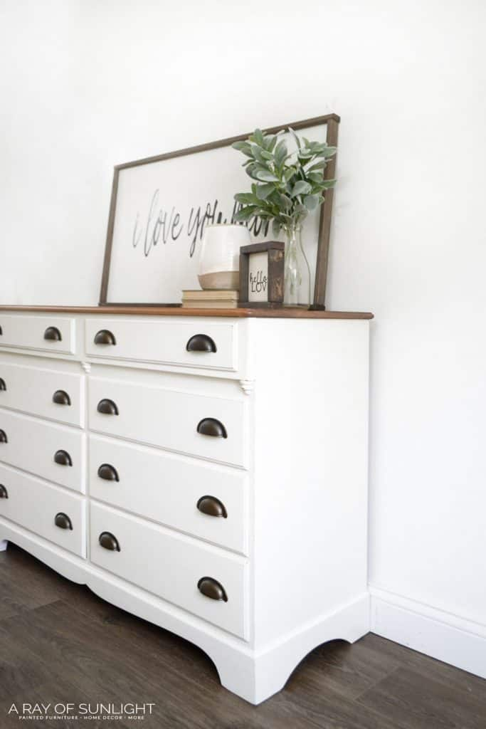 Cream Distressed Dresser