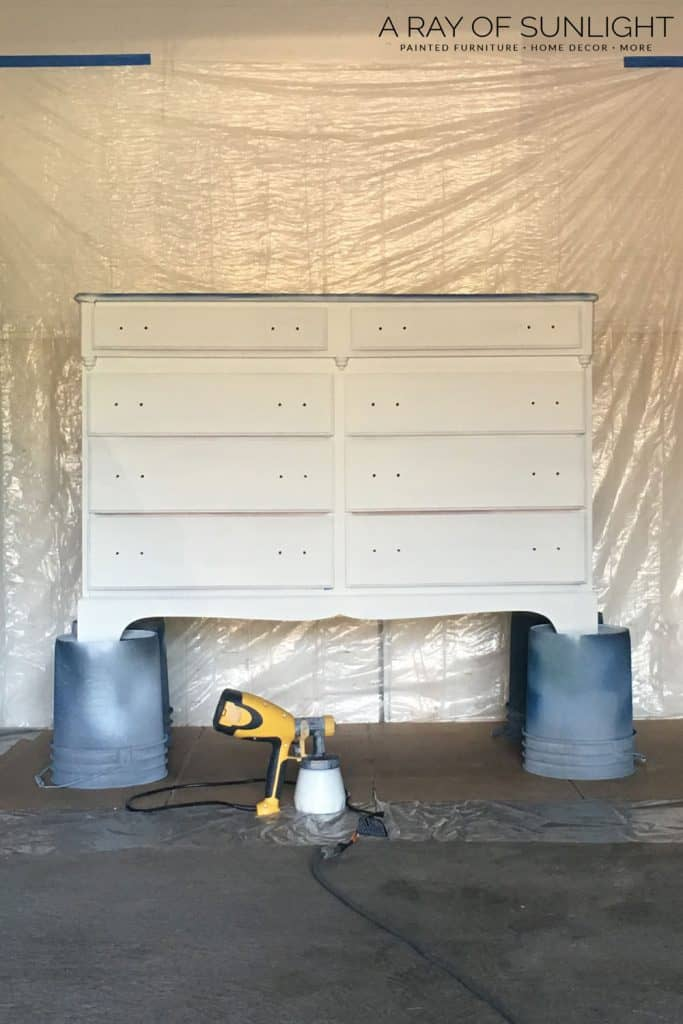 How to Spray Paint a Dresser with Chalk Paint