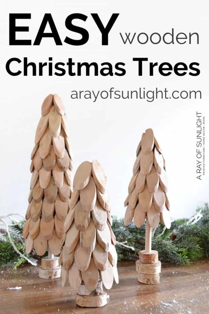 Easy Wooden Christmas Trees by A Ray of Sunlight