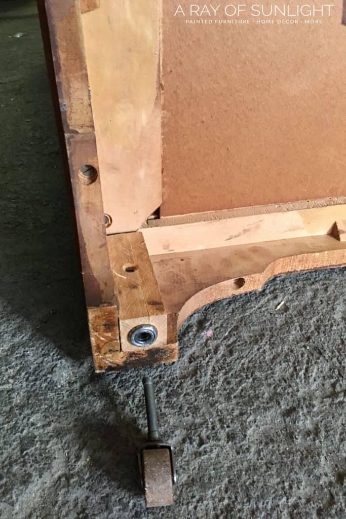 adding feet to furniture