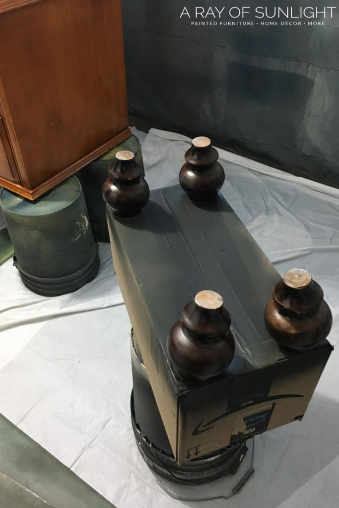 wooden dresser feet
