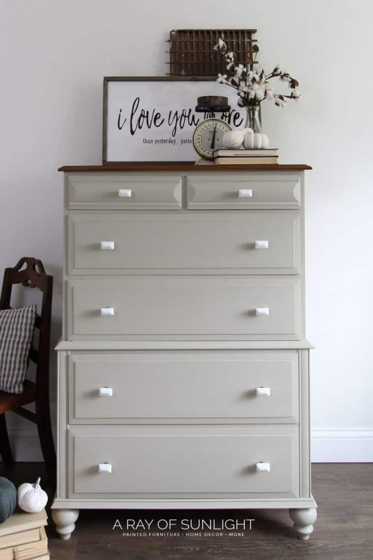 Light Green Painted Dresser
