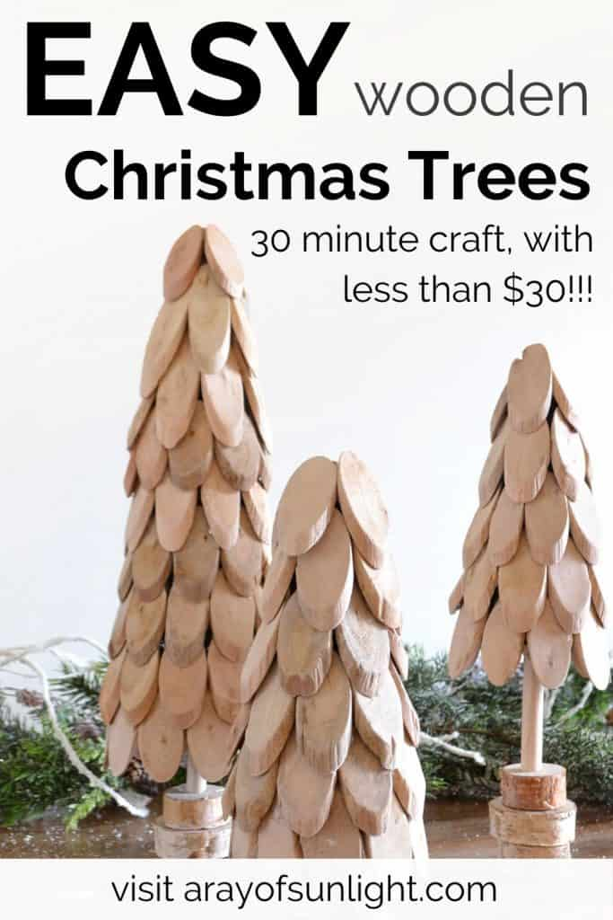 Easy Wooden Christmas Trees - DIY Wood Craft