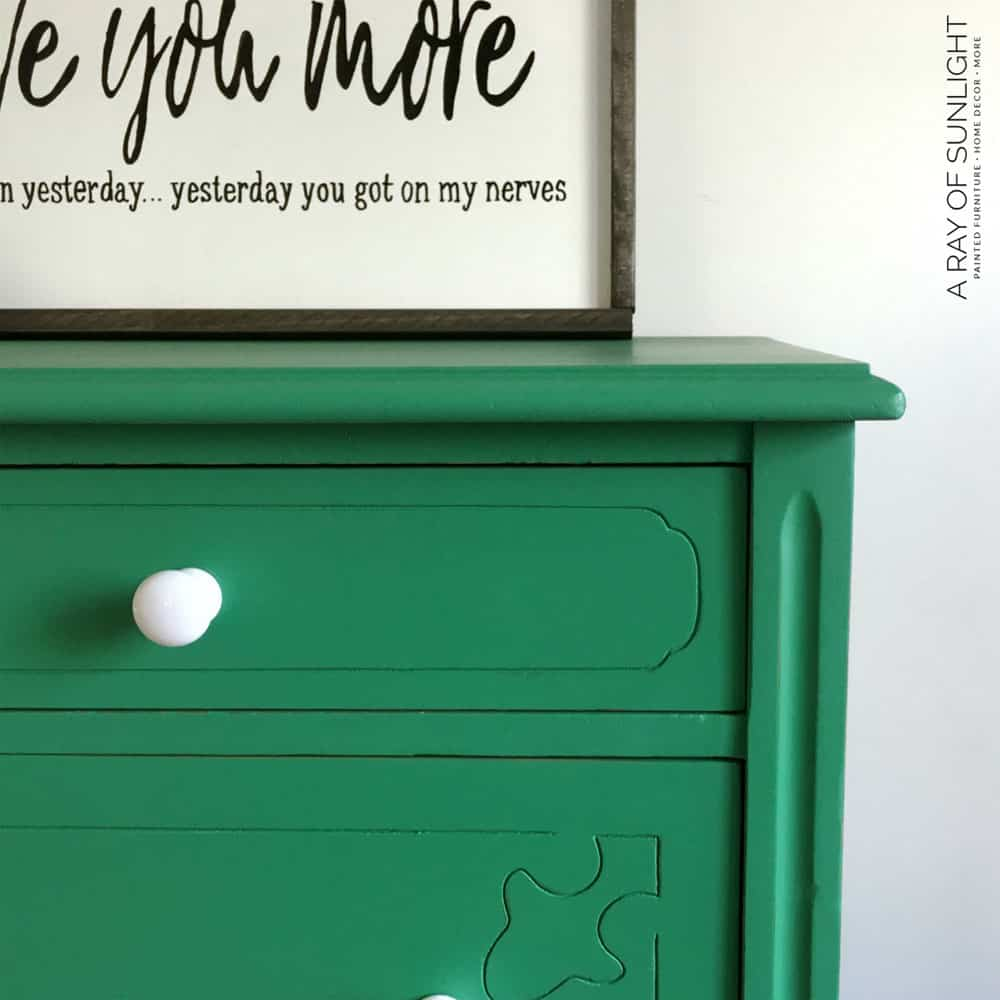 Green Chalk Paint Dresser - After