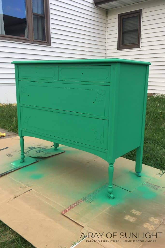 Green Chalk Paint Dresser