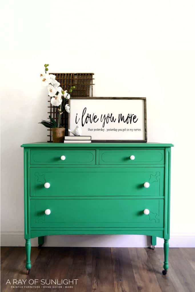 How to Paint a Stained Dresser - After