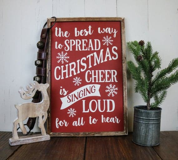 The Best Way to Spread Christmas Cheer Sign