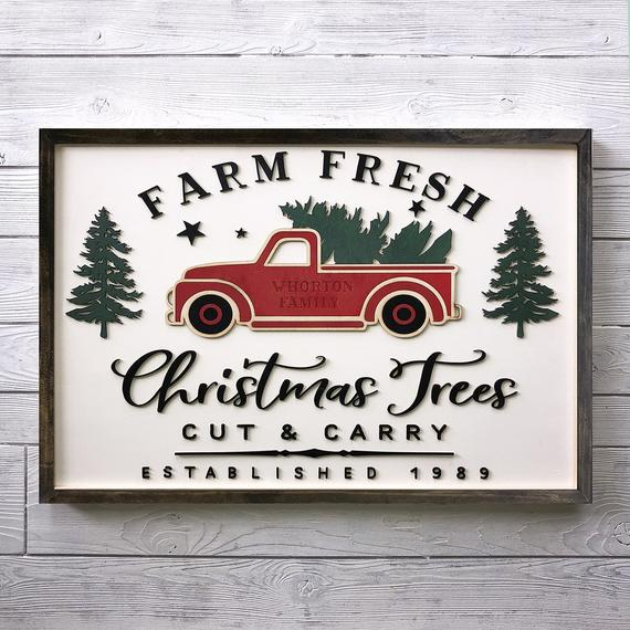 3D Farm Fresh Christmas Trees