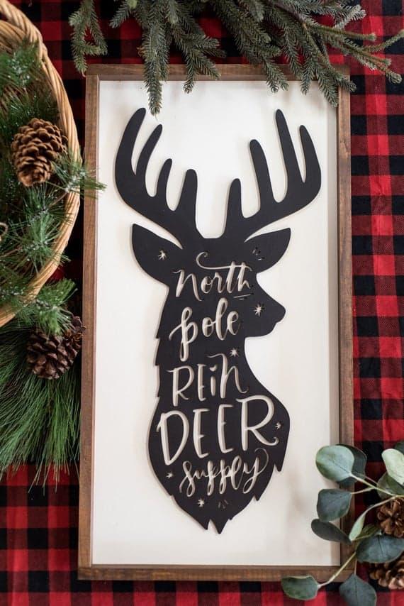 North Pole Reindeer Supply Sign