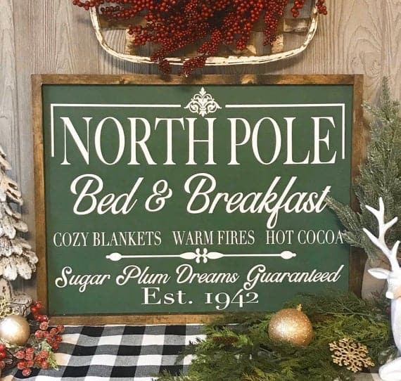 North Poly Bed and Breakfast Sign
