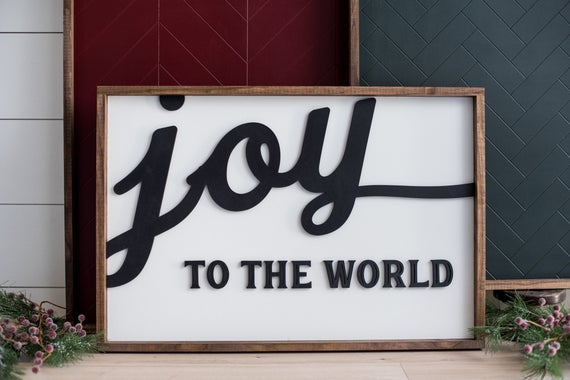 Joy to the World Christmas Sign