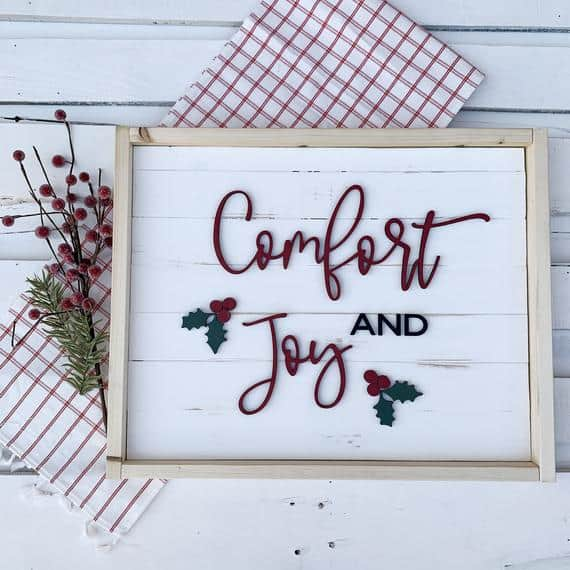 Comfort and Joy with 3D Lettering