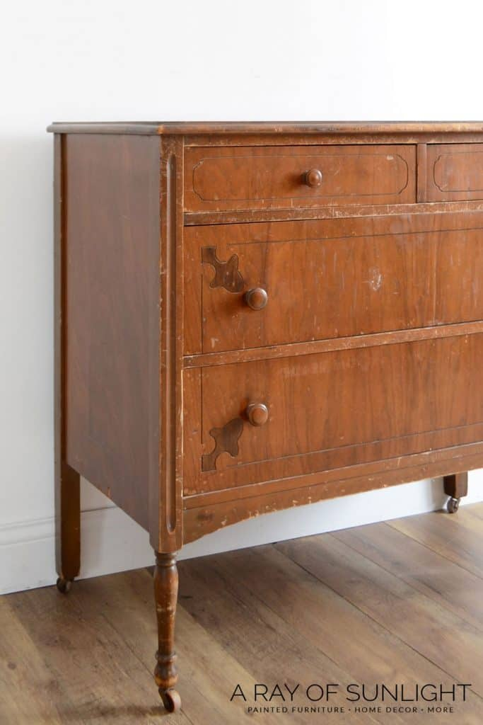 Before - Can you use chalk paint over stained wood furniture?