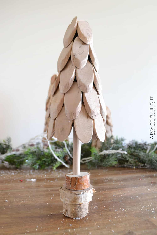 small DIY Driftwood Christmas Trees