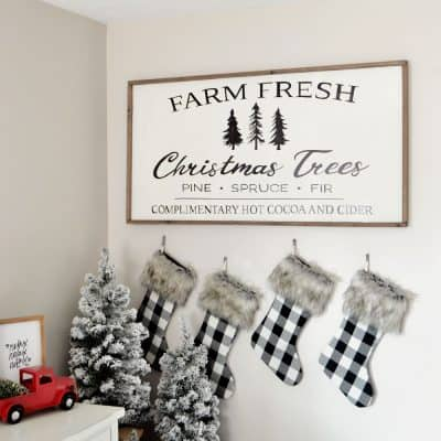 DIY Farm Fresh Christmas Tree Sign: with FREE Template