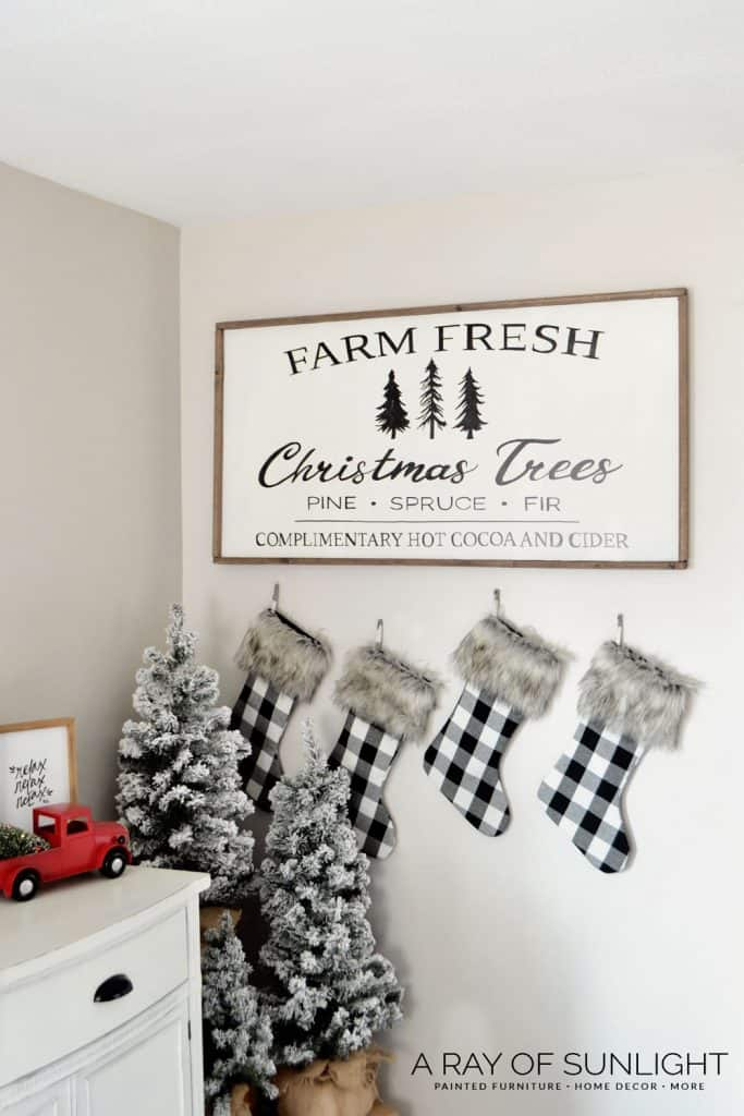 homemade wooden signs for christmas - Farm Fresh Christmas Tree Sign