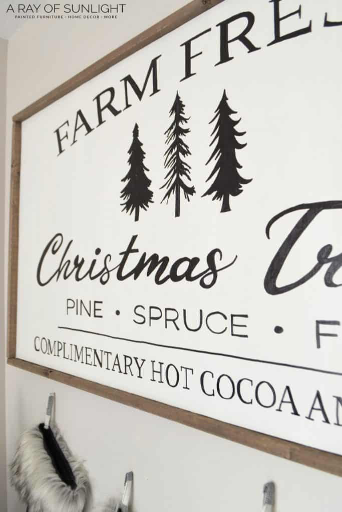 DIY Christmas Sign -Farm Fresh Christmas Tree Sign