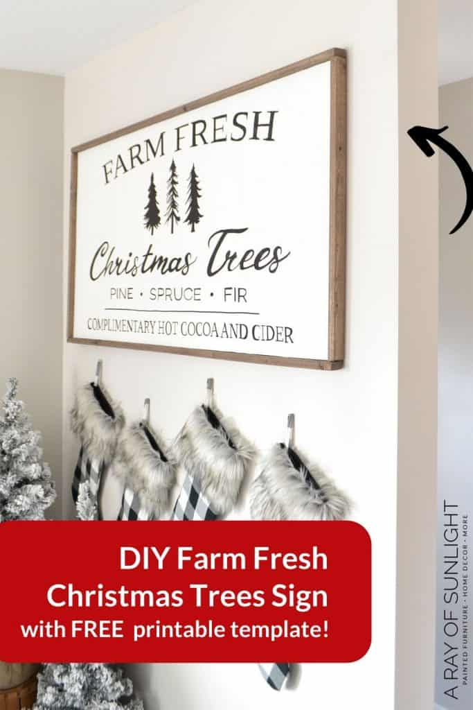 "DIY Wood Christmas Sign ""Farm Fresh Christmas Trees"""