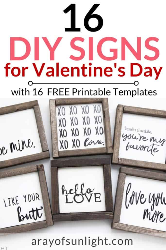 DIY Love Sign Decor with 16 free templates