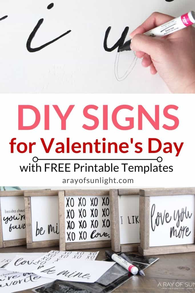 DIY Love Quote Wood Signs with templates